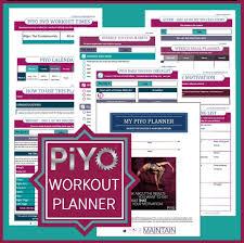 piyo planner printable pdf planner