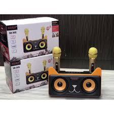 Loa Karaoke Bluetooth SD-305 2 Mic Không Dây