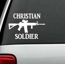 Christian Soldier Ak47 M16 M4 Decal Sticker Truck Window Car Wall Laptop Salt For Sale Online Ebay