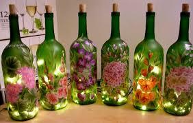 wine bottle painting work make it