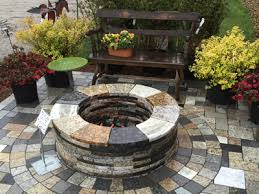 reclaimed granite fire pits