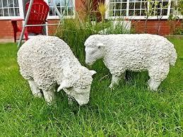 spring lamb garden ornament resin