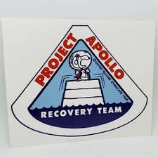 Snoopy Apollo 11 Recovery Team Vinyl Decal Vintage Style Sticker Space Nasa Ebay