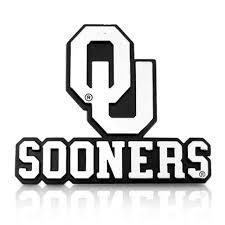 University Of Oklahoma Sooners 3d Chrome Car Emblem Car Beyond Store