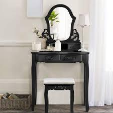 pine wood vanity makeup dressing table