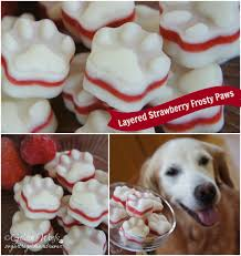 layered strawberry frosty paws