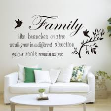 Wall Decals Stickers Family Tree Roots Branches Home Vinyl Wall Art Decal Lettering Words Quote 24 Home Furniture Diy Tallergrafico Com Uy