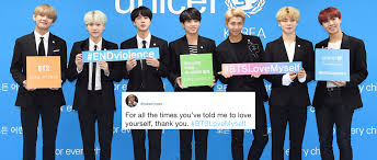 bts encourages fans to love myself and twitter had the most