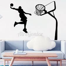 Jump Basketball Wall Sticker Decal Mural Wallpaper Art Sports Boys Room Decor Us For Sale Online