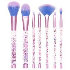 liquid glitter makeup brush set