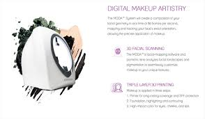is the moda is a makeup 3d printer