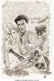 Adam Hughes Uncharted #1 Variant Cover Original Art (DC/Sony, | Lot #92122  | Heritage Auctions