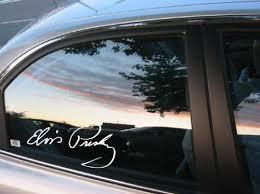 Elvis Presley Signature Die Cut Vinyl Decal Sticker Texas Die Cuts