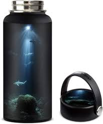 Amazon Com Skin Decal Vinyl Wrap For Hydro Flask 32oz Wide Mouth Stickers Skins Cover Under The Sea Sharks Kitchen Dining