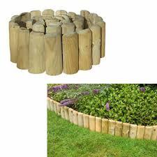 Large Outdoor Lawn Wooden Log Edging Roll Garden Landscaping Border Fencing 1 8m Ebay