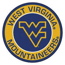 FANMATS NCAA West Virginia University Gold 2 ft. x 2 ft. Round ...