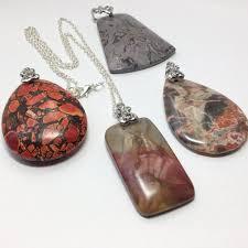 large stone pendant necklace large