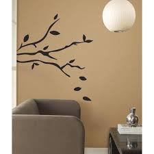 Giant Tree Branches Big Mural Wall Stickers Black Leaves Room Decor Vinyl Decals Rm1 Walmart Com Walmart Com