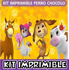 Super Kit Imprimible Perro Chocolo Fiestas Infantiles 1 990 En