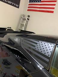 C7 Corvette Rear Quarter Window Flag Decal Stars And Stripes Distressed Flag And More Graphics Vinyl Decal C7 Performance