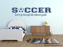 Soccer Quotes Boys Soccer Wall Decal Soccer Wall Stickers Etsy