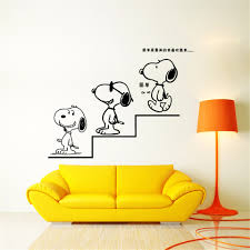 Cartoon Snoopy Wall Stickers For Kids Rooms Decorative Sticker Adesivo De Parede Removable Pvc Wall Decal Wall Stickers Aliexpress