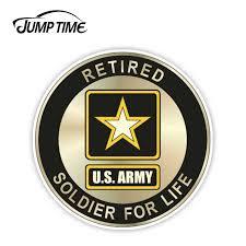 Jump Time 13cm X 13cm For U S Army Retired Military Car Truck Laptop Wall Notebook Sticker Decal Window Bumper Car Accessories Car Stickers Aliexpress