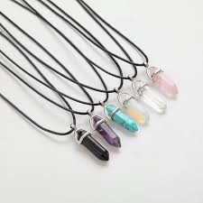 crystal pendants pink purple