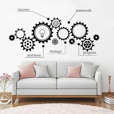 Gear Pattern Wall Vinyl Decal Sucess Stickers Teamwork Office Wall Decals Stickers For Nursery Study Classroom Decor Word Wall Decals Word Wall Stickers From Joystickers 10 22 Dhgate Com