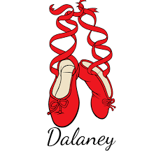 Personalized Ballet Shoes Decal Custom Dancer Decals