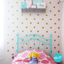 Metallic Gold Polka Dot Wall Decals Peel And Stick Polka Dot Wall Stickers