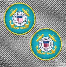 2x Us Coast Guard 3 Seal Uscg Bumper Window Decal Sticker Military Logo Graphic Ebay