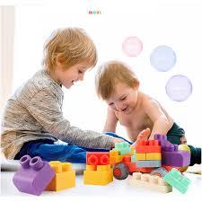 Đồ chơi lắp ghép Lego nhựa dẻo 50 chi tiết ( Từ 1-3 tuổi ...