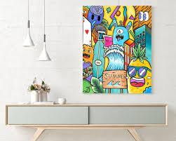 Colorful Wall Art Pop Art Canvas Kids Room Decor Wall Art Etsy
