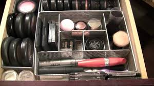 make up drawers and organizing tips