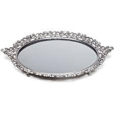 crystal mirror tray modern home decor