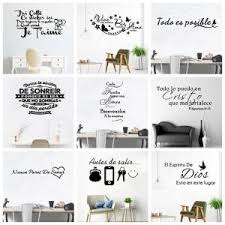 Super Sale 5102b0 Spanish French Quotes Sentences Removable Vinyl Wall Decals France Spain Wallpaper Wall Art For Living Room Bedroom Decoration Cicig Co