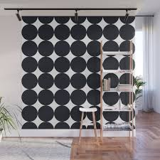 Large Black Dots On White Wall Mural By Juliesthingummies Society6