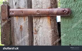 Ancient Rusty Metal Door Hinges Closeup Vintage Stock Image 1319776709