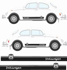 For 1set 2pcs Classic Beetle Wolfsburg Stripes Graphics Decals Stickers Car Styling Car Stickers Aliexpress