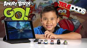 ANGRY BIRDS GO! Gameplay & Exclusive Deluxe Kart Pack Telepods ...