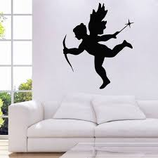 Little Cupid With A Bow Love Wall Sticker Home Decor Lover Couple Bedroom Vinyl Art Murals Kids Children Room Wall Decals Wish