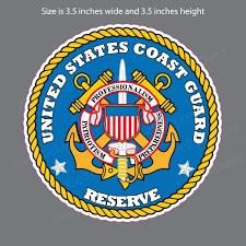 Uscg Coast Guard Reserve Seal Bumper Sticker Vinyl Window Decal