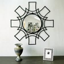 glass decorative metal frame mirror