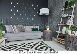black cactus wall decor room with