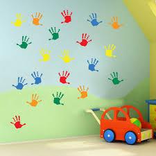 Kids Hand Prints Wall Stickers Kids Nursery Play Room Home Art Independence