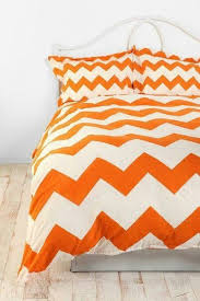 orange chevron bedding chevron