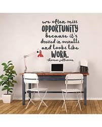 The Best Sales For Work Hard Wall Decal Lettering Thomas Jefferson Quote Vinyl Sticker For Office Classroom Black Brown White Red Green Blue Other Colors Large Small Sizes