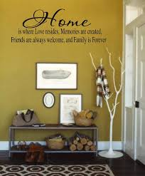 Family Wall Decal Home Is Where Love Resides Memories Are Made Home Vinyl Wall Lettering Decal Stickers