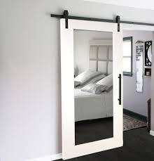 modern mirror sliding barn door